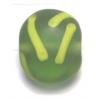 Glass Beads 13mm Round Flat Olivine Matt With Swirl
